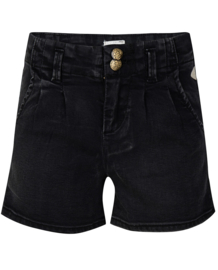 Indian Blue Jeans: Denim Shorts Black  - Girls