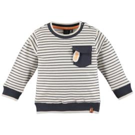 Babyface: Jongens Sweater Gestreept - Off white