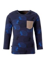 Noeser: Jongens T-shirt Bas Edchina Pocket - Blauw