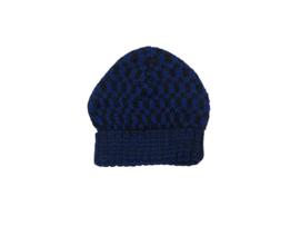 Imps&Elfs: Gebreide muts d.blauw/zwart - 3160042