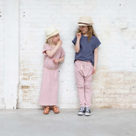 House of Jamie: Crossover pants - Powder Pink