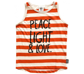 Little man happy:  peace and love tank