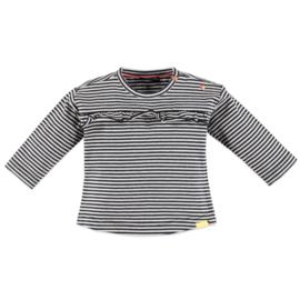 Babyface: Meisjes Longsleeve T-shirt ruffles - Blue Wave
