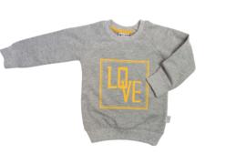 Tibot+Bodil: Trui love grey melange