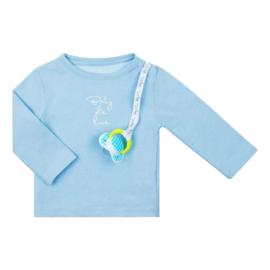 Baby Deluxe t-shirt met speenkoord - blauw