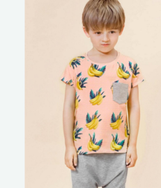 Little Man Happy: banana sky pocket shirt