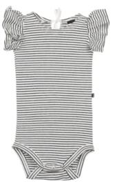 House of Jamie: Ruffled Bodysuit - Little Stripes
