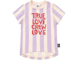 Little Man Happy True Love Crew Love t-shirt - gestreept