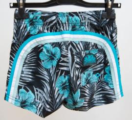 Sundek: Boardshort palmleaves with flowers