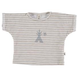 Petit Indi: T-shirt Stripes Grey 22.06