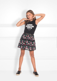 Nik & Nik: Calida skirt printed/black