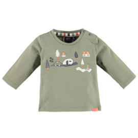Babyface: Jongens T-shirt Camping - Olive Groen