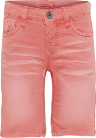Name it: Jongens twicas long shorts - Neon Coral