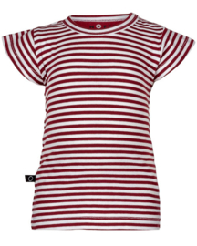 Noeser: Ted t-shirt frill stripe red