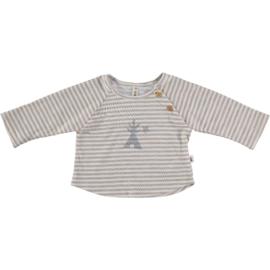 Petit Indi: T-shirt Stripes Grey