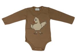Dear Sophie: Chicken - bodysuit brown