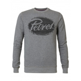 Petrol: grijze trui met logo