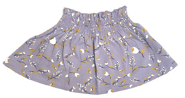 House of Jamie: Smocked Skater Skirt - Floral Dusty Lilac