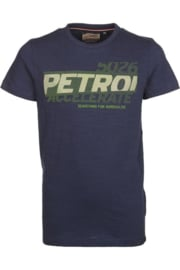 Petrol: T-Shirt rubberen logo - Donker blauw