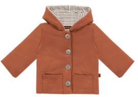 House of Jamie: Bow tie Hooded Jacket - Rust