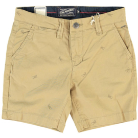 Petrol Industries: All-over Kreeft Short - beige