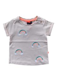 babyface: zalm tshirt regenboog