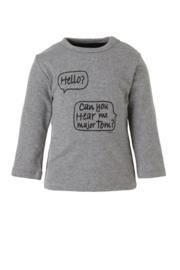 Noeser: Shirt Hello grey melange