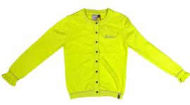 Wheat: Agnes cardigan - neon yellow