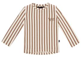 House of Jamie: Long Sleeve Tee - Toffee Stripes