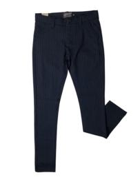 Petrol B-4010-TRO599 broek met krijtstreep donkerblauw