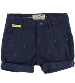 Petrol: Jongens Shorts Palmbomen - Navy