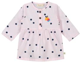 Smitten Organic: Dress with dots - salmon pink