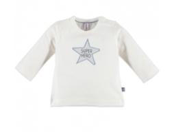 Babyface: T-shirt super hero star - ice blue