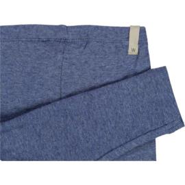 Wheat: Rib Leggings - Blue Melange
