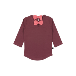 Noeser: Malou shirt bow burgundy queen