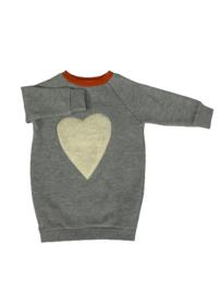Little Man Happy: Sweat dress - Grijs