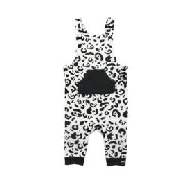 Jollein: Salopette leopard black / white