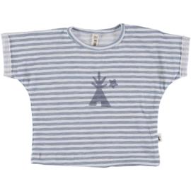 Petit Indi: T-shirt Stripes Blue 22.20