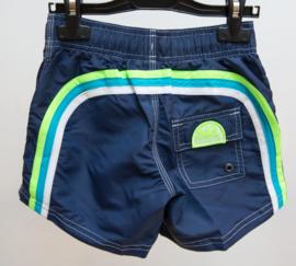 Sundek: Boardshort  donker blauw met regenboog groen