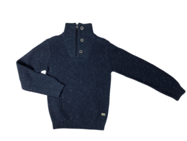 Cars Jeans: New Benson button Navy trui