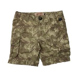 Petrol: Summer shorts met print - groen