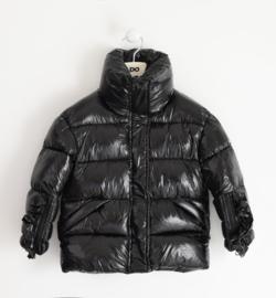 Ido: Winterjas zwart glimmend