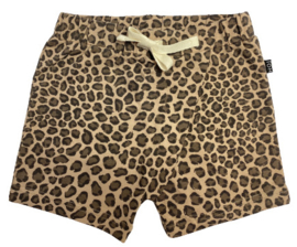 House of Jamie: Cross over shorts - Caramel Leopard