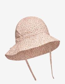 Wheat: Baby girl sun hat - misty rose flowers
