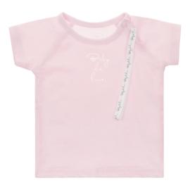Baby de Luxe: roze T-shirt met speenkoord