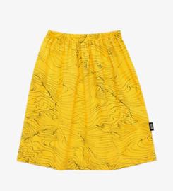 Little man happy waves midi skirt - geel