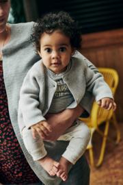 Babyface: Jongens T-shirt Happy Hippo - Grey Melange