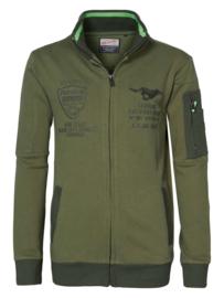 Petrol: Sporty Cardigan - Army Green