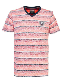 Petrol: T-shirt Gestreept - rood/blauw