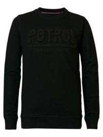 Petrol: Sweater Black met opdruk